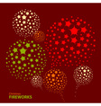 Holiday New Year firework vector image vector image