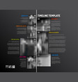 infographic timeline template with big photos vector image vector image