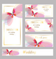 invitation with butterflyeps vector image vector image