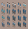 isometric businessman front view and rear view vector image