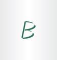 logo logotype green letter b design vector image vector image