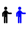 man with the outstretched hand icon vector image vector image