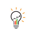 marketing finance sales economical business vector image vector image