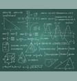 math formulas chalk board background vector image vector image