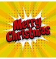 Merry Christmas yellow background vector image vector image