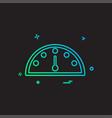 meter icon design vector image