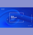 modern blue abstract presentation template vector image