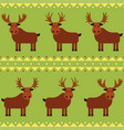 moose and elk seamless pattern with different vector image vector image