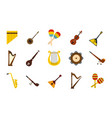 musical instrument icon set flat style vector image