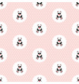 panda baby pattern seamless vector image vector image