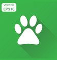 paw print icon business concept dog cat bear vector image vector image