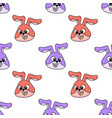 rabbit beast laughed seamless pattern textile vector image vector image