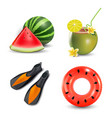 realistic summer holidays vector image