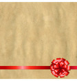 Retro Paper Banner With Red Bow vector image