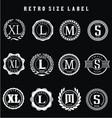 Retro Size Label vector image vector image