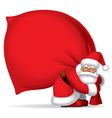 Santa Claus with sack vector image vector image
