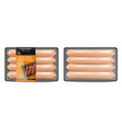 sausage pack realistic product placement vector image