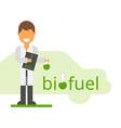 scientist invented eco-fuel vector image