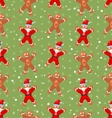 Seamless Christmas pattern with Santa Claus snow vector image vector image