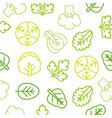 seamless outline vegetable pattern such as vector image vector image