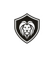 security protect shield with lion face logo design vector image vector image
