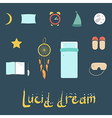 Set of icons on a theme of lucid dream vector image vector image