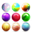 shine sphere set orb shining ball glowing vector image vector image