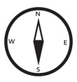 simple icon compass compass icon on white vector image vector image