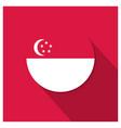 singapore flag design vector image