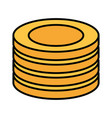 Stack coins money