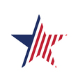 star stylized in american flag vector image vector image