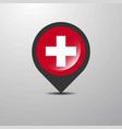 switzerland map pin vector image