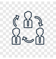teamwork concept linear icon isolated on vector image