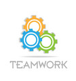 teamwork working gears community icon vector image vector image