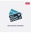 two color wave abstract business card icon from vector image vector image