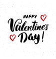 valentines day brush lettering sign grunge vector image vector image