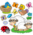 various spring animals vector image vector image