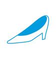 wedding shoe woman elegance style vector image