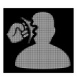 white halftone head strike icon vector image