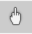 Pixelated gesture hand like negative icon vector image