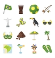 Brazil country set icons in cartoon style Big vector image