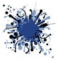 Grunge ink splat background blob vector image
