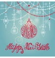 2016 New year card with ballgarlandslettering vector image vector image