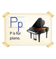 A letter P for piano vector image vector image
