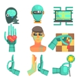 Artificial Intelligence Icon Set vector image