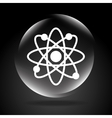 atom sign vector image vector image