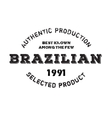 Authentic brazilian product stamp vector image vector image