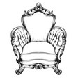 baroque furniture rich armchair royal style vector image vector image