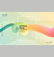 beautiful banner colorful fluid loop background vector image vector image