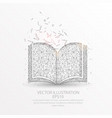 book low poly wire frame on white background vector image vector image